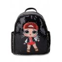 New Fashion Cute Sequined Girl Pattern Mini Backpack 26*14.5*27 CM