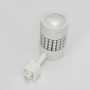 Shop Cinema Cylinder Ceiling Light 1 Head Black/White LED Track Lighting in White/Warm White