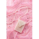 New Fashion Pearl Designed White Mini Crossbody Cell Phone Wallet Shoulder Bag 18.5*12 CM