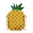 Cute Creative Pineapple Shape Color Block Crossbody Sling Bag 14*7*16 CM