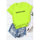 Funny Simple Letter ABCDEFUCKOFF Basic Short Sleeve Cotton Tee