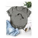 Unique Abstract Man Woman Hug Printed Short Sleeve Cotton Loose Tee