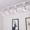 Rotatable Tapered LED Track Lighting Living Room 4 Lights Modern High Brightness Ceiling Light