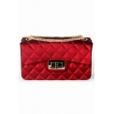Luxury Diamond Check Quilted Crossbody Clutch Handbag 17*7*10 CM