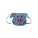 Cute Cartoon Pig Shape PU Leather Crossbody Cell Phone Purse 13*6*12 CM