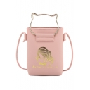 Trendy Figure Letter Printed Top Handle Crossbody Cell Phone Purse 14*5*20 CM
