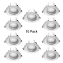 (10 Pack)5/6 Inch Wireless Recessed Light 15/18W LED Flush Mount Recessed in White/Warm/Neutral for Kitchen