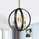 Metal Globe Ceiling Light Dining Room 4/8 Lights Vintage Style Chandelier Light for Dining Room Kitchen