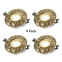 (4 Pack)Vintage Style 3-3.5 Inch Recessed Light 5W Wireless LED Ceiling Light Recessed in White/Warm for Living Room