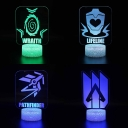 7 Color Changing LED Night Lamp 4 Pattern Design Touch Sensor 3D Illusion Light for Boy Gift Birthday