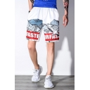 Guys Summer Stylish Printed Cotton Loose Straight Relaxed Shorts