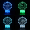 Battery USB Charging 3D Night Light Birthday Christmas 7 Color Changing Touch Sensor Basketball Pattern LED Bedside Light