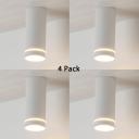 (4 Pack)Dining Room Bedroom LED Ceiling Light White/Black Cylinder High Brightness Spot Light in Warm White/White