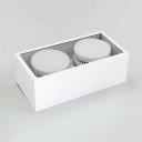 High Brightness Rectangle Flush Mount Light Metal 2 Heads LED Spot Light in White/Warm for Kitchen Living Room