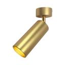 Gold Cylinder LED Ceiling Light Long Life Angle Adjustable Spot Light in Warm White for Bedroom