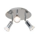 Round Canopy LED Spot Light Angle Adjustable Long Life Chrome Ceiling Light in White/Warm White for Restaurant