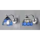 Glass Down Lighting Wall Sconce Living Room Kitchen 1 Light Tiffany Style Wall Lamp