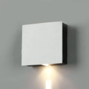 1/2/4 Heads Square Wall Light Hallway Hotel High Brightness Wireless LED Spot Lighting in Warm