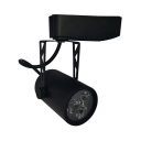 Long Life Track Light High Brightness 1 Head Black Ceiling Fixture for Office Mall