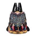 New Collection Colorful Tree Figure Printed Large Capacity Shoulder Bag College Backpack 31*15*32 CM