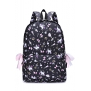 Popular Unicorn Printed Bow Tie Side School Bag Backpack 28*12*40 CM