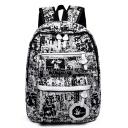 Trendy Painted Large Capacity Zippered Pocket Backpack School Bag 28*12*38 CM
