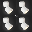 (4 Pack)Bedroom Cylinder LED Track Lighting 1 Head Black/White COB Ceiling Light in White/Warm White