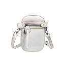 Fashion Simple Solid Color Zipper Embellishment Mini Crossbody Purse 13*5*20 CM