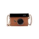Summer Fashion Camera Shape Straw Crossbody Shoulder Bag 17.5*8*12.5 CM