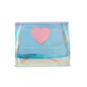 New Fashion Heart Patchwork Transparent Laser Crossbody Bag 17*4*14 CM