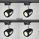 (4 Pack)Wireless Display Window Track Lighting 1 Head Contemporary Rotatable LED Spot Light in Black/White