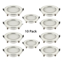 Pack of 10 Recessed Light 3W Circle Light Fixture in Warm White for Bedroom Kitchen