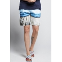 Men's Summer Fashion Printed Holiday Surfing Beach Shorts Swim Trunks with Pockets