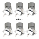 (6 Pack)12/15W Square COB Recessed Light Wireless LED Light Fixture Recessed in White/Warm White