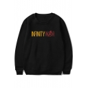 Infinity War Simple Letter Printed Basic Round Neck Long Sleeve Unisex Pullover Sweatshirt