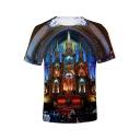 Notre Dame de Paris Awesome Building Basic Round Neck Short Sleeve T-Shirt