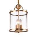 Gold Candle Shade Chandelier 3/7 Lights Vintage Style Metal and Glass Pendant Lamp for Kitchen