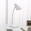 Energy Saving LED Desk Lamp with USB Charging Port and Flexible Gooseneck Eye Caring White/Pink/Green Reading Light