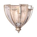 Classic Cone Shape Wall Sconce 1 Lights Metal and Crystal Sconce Light for Hotel Bedroom