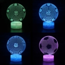 Football Pattern 3D Night Light 7 Color Changing Touch Sensor LED Illusion Light with Battery USB Port