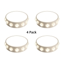 (4 Pack)Drum Shape LED Spot Light with Crystal Decoration Metal and Acrylic Long Life White Ceiling Light in White/Warm White/Multi Color