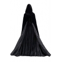 Halloween Cosplay Costume Hooded Longline Vampire Cloak Medieval Cape Coat