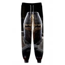 Knights Templar Cool 3D Figure Printed Drawstring Waist Sport Loose Jogger Pants Sweatpants