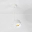 Black/White Wireless Ceiling Light Angle Adjustable LED Spot Light in Warm/Neutral for Bedroom