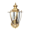 Single Light Wall Light Traditional Metal Clear/Frosted Glass Sconce Light for Front Door Hallway