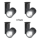 (4 Pack)High Brightness White/Black Track Lighting 1 Head Aluminum LED Ceiling Fixture in White/Warm White