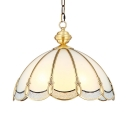 Glass Dome Shade Pendant Light Hallway Living Room 3/5 Lights Elegant Style Chandelier