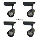 (4 Pack)Shop Boutique Cylinder Track Light Black/White 1 Head Commercial Semi Ceiling Mount Light in White/Warm White