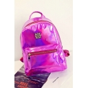 Women's New Fashion Plain PU Laser Bling Backpack 25*10*32 CM