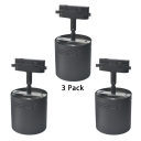 (3 Pack)Black/White Ceiling Light Cylinder Rotatable 1 Head Track Lighting in White/Warm for Market Shop